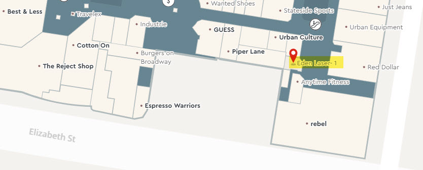 Eden Tattoo Removal - Westfield Liverpool map
